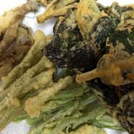 葉ごぼうの天ぷら
